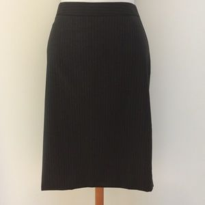 J. Crew Pencil Skirt in Pinstripe Super 120s Wool
